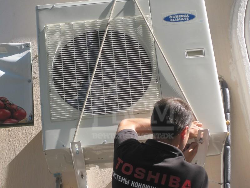 Монтаж General Climate S36HRIN1 10.5 кВт