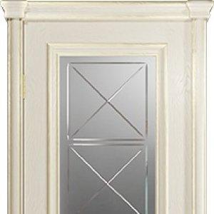 Межкомнатная дверь Арт Деко Аттика-2-2, цвет аква, стекло гравировка