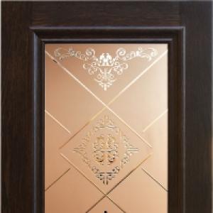 Межкомнатная дверь Дворецкий Верона стекло английский дуб