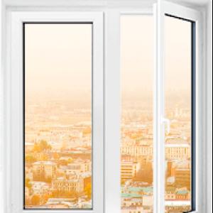 Пластиковое окно Rehau Blitz двухстворчатое 1300x900мм