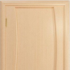 Межкомнатная дверь Арт Деко Вэла 1 белёный дуб глухая