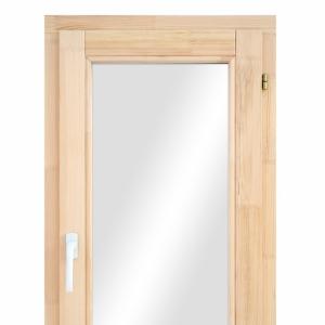 Окно из сосны одностворчатое поворотно-откидное