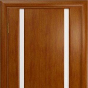 Межкомнатная дверь Арт Деко Спация-2 анегри тёмное, стекло белое