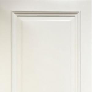 Межкомнатная дверь Дворецкий престиж 1 широкий багет глухая эмаль белая