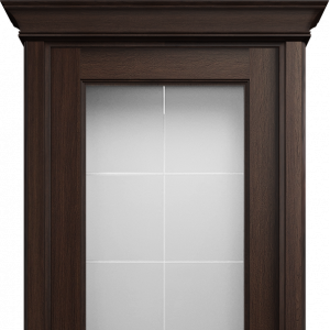 Межкомнатная дверь Status Classic 552 английская решетка карниз орех