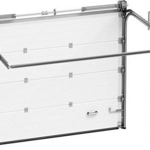 Гаражные секционные ворота Алютех TREND 2500х2500 мм (S-гофр) c автоматикой Marantec