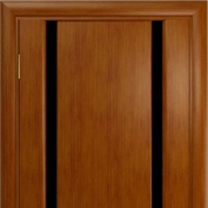 Межкомнатная дверь Арт Деко Спация-2 анегри тёмное, стекло чёрное