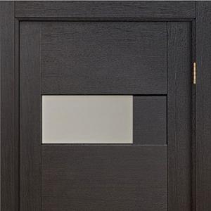 Межкомнатная дверь Домино Венге с остеклением