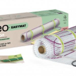 Нагревательный мат для теплого пола CALEO EASYMAT 140 Вт/м2, 6 м2