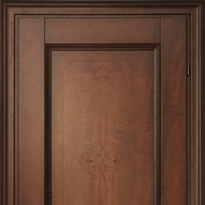 Межкомнатная дверь Краснодеревщик Кофе с гравировкой 3323 ДГ 21- 9