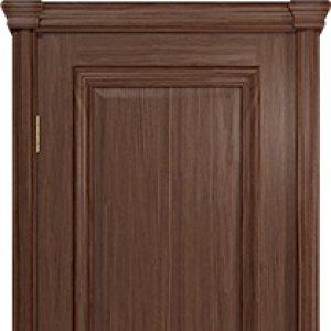 Межкомнатная дверь Арт Деко Аттика-1 , цвет Американский орех, глухая