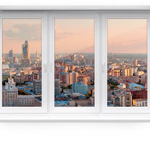 Пластиковое окно трехстворчатое KBE EXPERT 1800 х 1500 мм