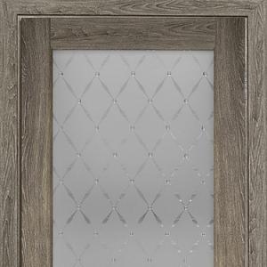 Межкомнатная дверь Элеганс ПФ №3 седой дуб с остеклением