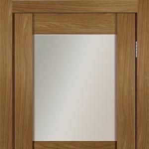 Межкомнатная дверь Сканди 1 орех копенгаген с остеклением