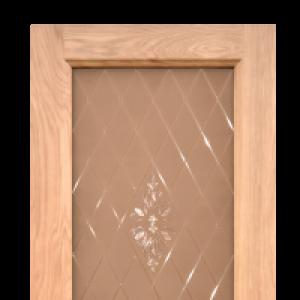 Межкомнатная дверь Дворецкий готика стекло натуральный дуб