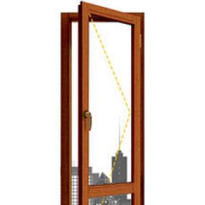 Окно из лиственницы одностворчатая балконная дверь