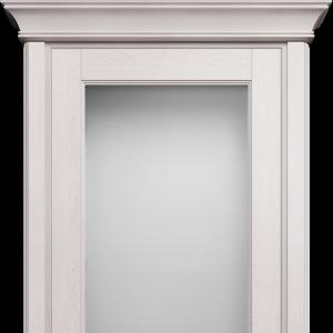 Межкомнатная дверь Status Classic 552 белое сатинато карниз дуб белый