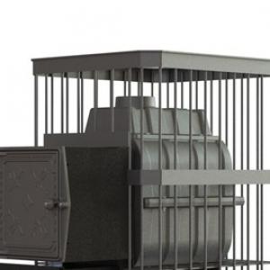 Банная печь ПароВар 24 сетка-прут (К211)