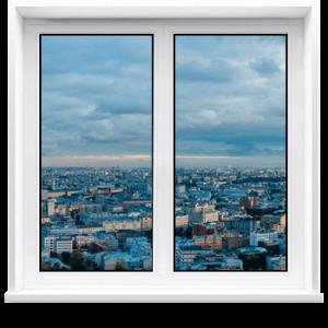 Пластиковое окно 1100 х 1700мм двухстворчатое VEKA WHS 60