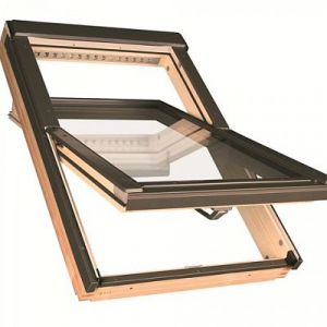 Мансардное окно Факро FTP-V L3 55х98см, деревянное, среднеповоротное