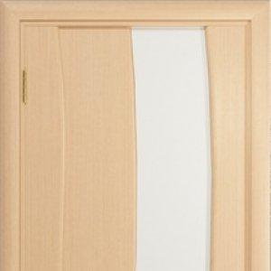 Межкомнатная дверь Арт Деко Вэла арт белёный дуб стекло белое