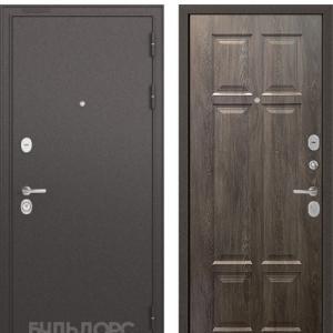 Входная дверь Бульдорс STANDART-90 Черный шелк/Дуб шале серебро 9S-109