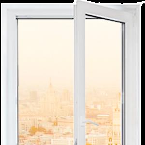 Пластиковое окно Rehau Blitz одностворчатое 900x1700мм