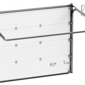 Гаражные секционные ворота Alutech Trend 5000х2500 мм (S-гофр) c ручным управлением