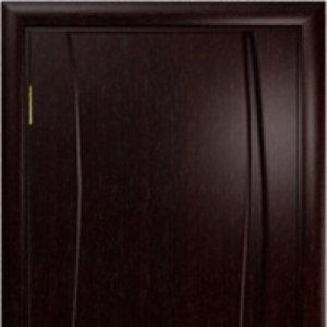 Межкомнатная дверь Арт Деко Вэла-1 Венге глухая