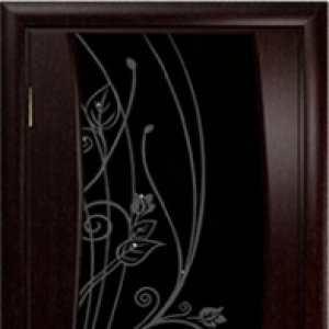 Межкомнатная дверь Арт Деко Вэла, венге, стекло стразы