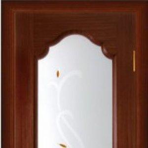 Межкомнатная дверь Арт Деко Филета, стекло, шпон дуба, цвет орех