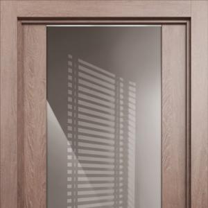 Межкомнатная дверь Status Optima 132 дуб белый