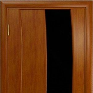 Межкомнатная дверь Арт Деко Вэла арт анегри стекло чёрное