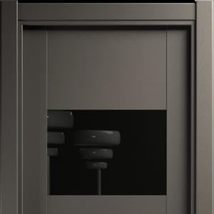 Межкомнатная дверь Status Versia 221 Лакобель Черное Грей