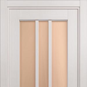 Межкомнатная дверь Status Optima 136 Бронза Дуб Белый