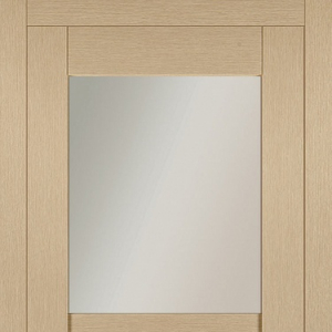 Межкомнатная дверь Сканди №1 дуб стокгольм с остеклением