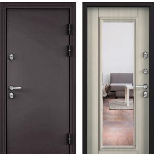 Входная дверь Бульдорс TERMO-2 Белый перламутр (зеркало)