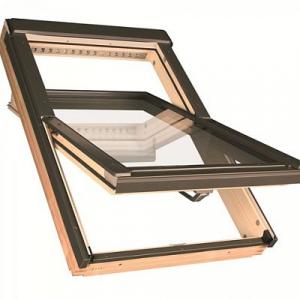 Мансардное окно Факро FTP-V U3 55х78см, деревянное, среднеповоротное