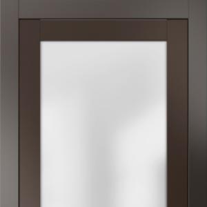Межкомнатная дверь Волховец Deco 2102d. Матовый антрацит