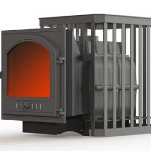 Банная печь ПароВар 24 сетка-ковка (К505)
