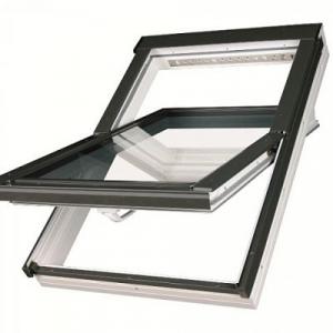 Мансардное пластиковое окно Факро PTP U3 94х118см, среднеповоротное