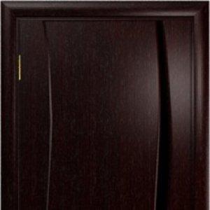 Межкомнатная дверь Арт Деко Вэла 1 венге стекло чёрное