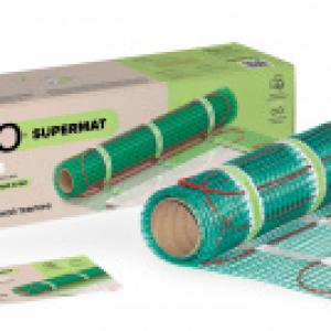 Нагревательный мат для теплого пола CALEO SUPERMAT 130 Вт/м2, 5 м2