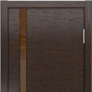 Межкомнатная дверь Арт Деко мореный дуб, стекло