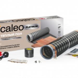 Пленочный теплый пол CALEO PLATINUM 230 Вт/м2, 5 м2