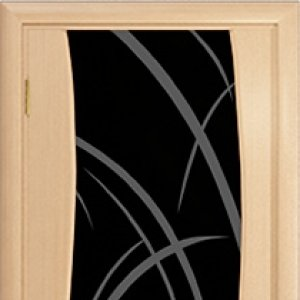 Межкомнатная дверь Арт Деко Вэла 3 белёный дуб