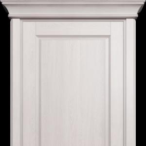 Межкомнатная дверь Status Classic 534 белое сатинато карниз дуб белый