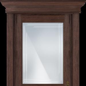Межкомнатная дверь Status Classic 533 грань карниз орех