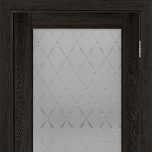 Межкомнатная дверь Элеганс ПФ №3 серый дуб с остеклением