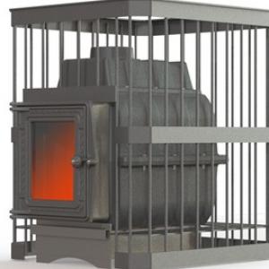 Банная печь ПароВар 24 сетка-прут (К201) без выноса